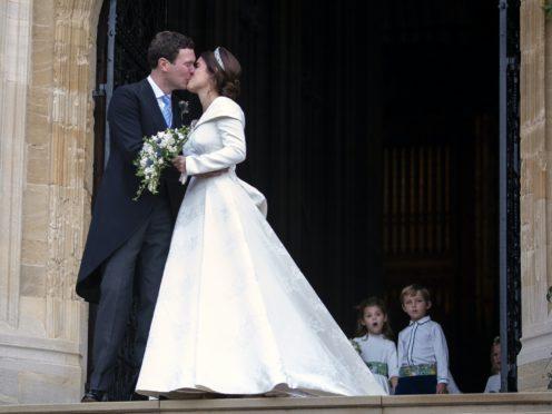 Princess Eugenie and her husband Jack Brooksbank (Victoria Jones/PA)