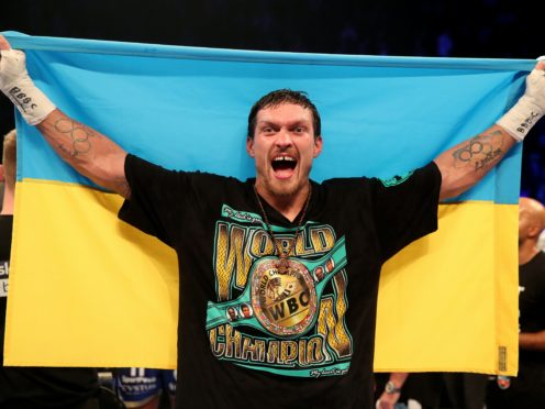 Oleksandr Usyk took a step towards fighting for a world heavyweight title next year (Nick Potts/PA)