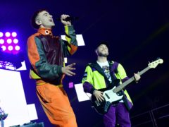 Olly Alexander performs with Jax Jones (Ian West/PA)