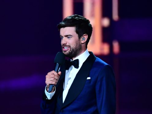 Jack Whitehall on stage at the Brit Awards 2019 at the O2 Arena, London (Victoria Jones/PA)