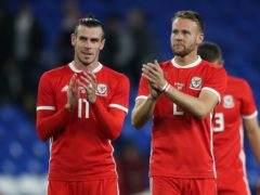 Chris Gunter (right) and Gareth Bale are among the Wales players hoping to be inspired by the Masters golf tournament this weekend (Nick Potts/PA)