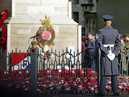 People are being encouraged to take part in Remembrance Sunday commemorations at home due to the ongoing coronavirus pandemic (Luciana Guerra/PA)