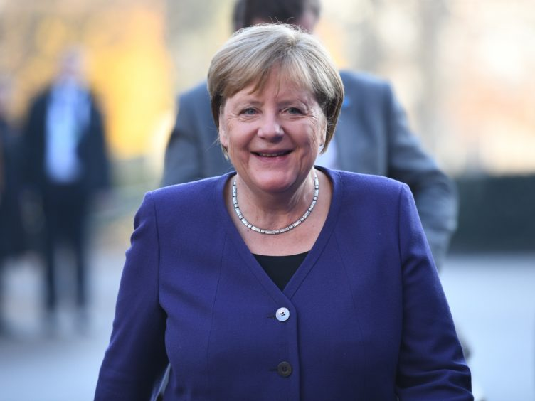 Mrs Merkel said EU members and the UK are 'countries that are based on the same values' (Chris J Ratcliffe/PA)