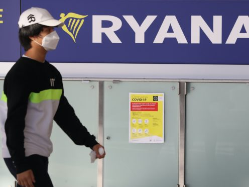 Ryanair has recorded a 197m euro loss for the first half of the year (Brian Lawless/PA)