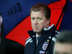 Steve McClaren was dubbed 'the wally with the brolly' after England's defeat to Croatia in November 2007 (Martin Rickett/PA)