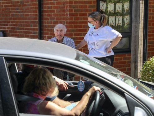 The Government has been criticised over its guidance on safe visits to care homes (Steve Parsons/PA)