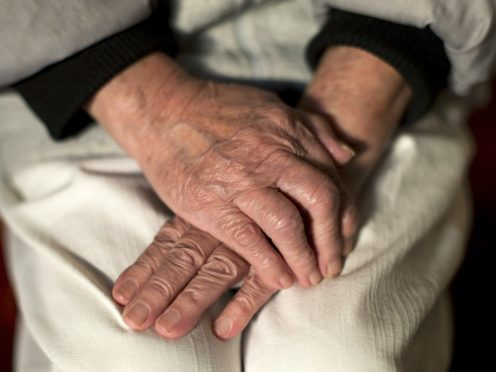 The hands of an elderly woman (Yui Mok/PA)