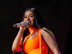 Cardi B was among celebrities sharing the fact she had voted in the US presidential election (Isabel Infantes/PA)