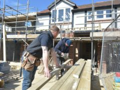 House builders helped prop up the construction sector, which cooled in October, according to the latest PMI data (Nick Ansell/PA)