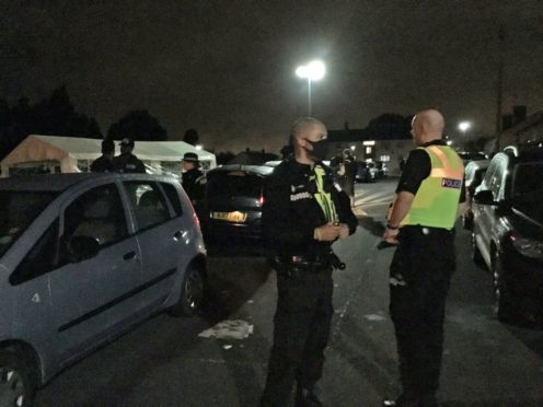 Police can now start fining lockdown rule breakers the maximum £10,000 again (@brumpolice/PA)