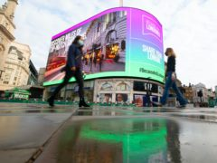 Piccaidlly advertising boards owner Landsec has slumped to a £835 million loss for the past six months (David Parry/PA)