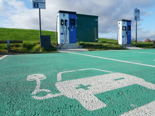 Electric vehicle charging points (Owen Humphreys/PA)