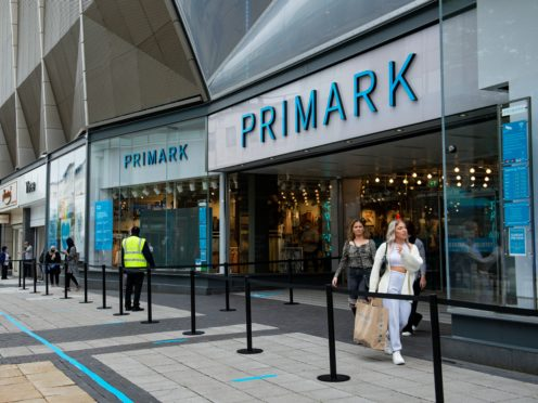 Primark owner Associated British Foods has said it faces a £375m hit from the latest enforced closure plans (Jacob King/PA)