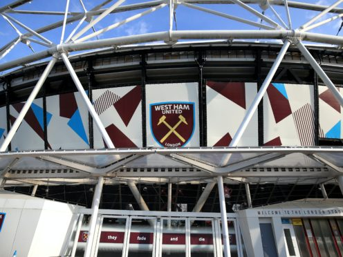 The statue will be erected at West Ham's London Stadium (Adam Davy/PA).