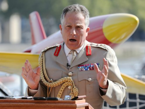 Chief of Defence Staff, General Sir Nick Carter, said the number of regional conflicts meant a 'full-blown war' was a risk (Jonathan Brady/PA)