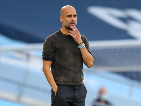 Pep Guardiola is missing the support of fans (Catherine Ivill/PA)