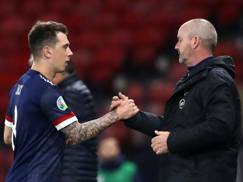 Ryan Jack, left, has welcomed the support of Steve Clarke (Andrew Milligan/PA)