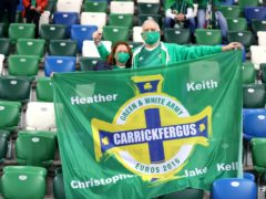 Six hundred fans attended Northern Ireland's last home game against Austria in October (Liam McBurney/PA)