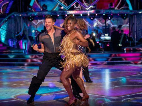 Clara Amfo and Aljaz Skorjanec in Strictly Come Dancing (BBC/PA)