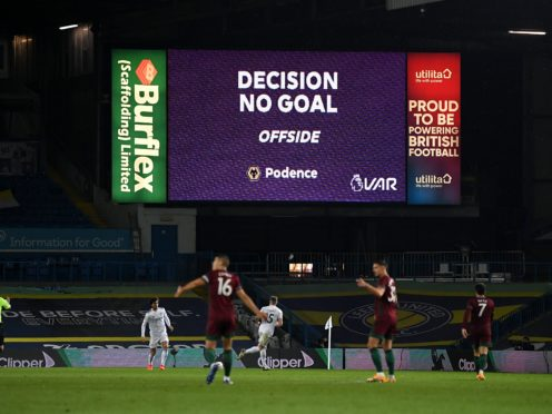 A FIFA group is working to develop more clear visuals around marginal offside calls (Michael Regan/PA)