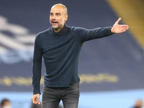 Pep Guardiola recognises Manchester City need to score more goals (Martin Rickett/PA)