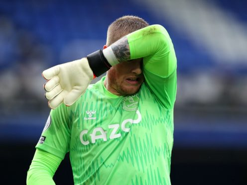 Everton goalkeeper Jordan Pickford has been left out of the team at Newcastle (Peter Byrne/PA)