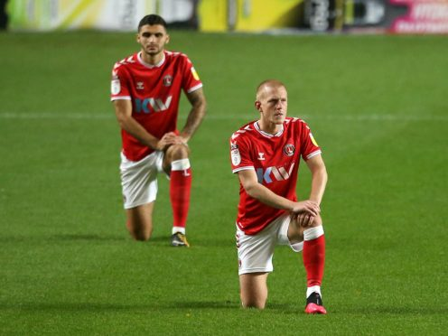 Ben Watson,right, and Ryan Inniss could return for Charlton after suspension (Steven Paston/PA)