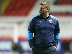 Karl Robinson was relieved with Oxford's win (Steven Paston/PA)