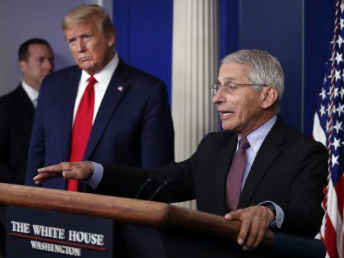 US President Donald Trump, left, and Dr Anthony Fauci (AP/Alex Brandon, File)