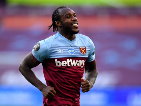 Michail Antonio could make his return from injury for West Ham against Aston Villa on Monday (Justin Setterfield/PA)