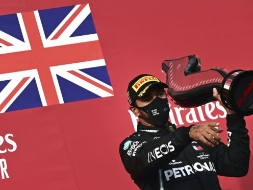 Lewis Hamilton was a winner again on Sunday (Miguel Medina/AP)