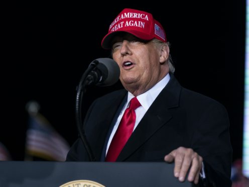 President Donald Trump speaks during a campaign rally (Evan Vucci/AP)