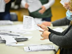 Ballots being counted in the state of New Hampshire, which has been won by Joe Biden (Kristopher Radder/The Brattleboro Reformer via AP)