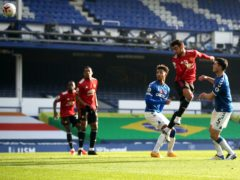 Bruno Fernandes scored twice in the first half as Manchester United came from behind (Carl Recine/PA)