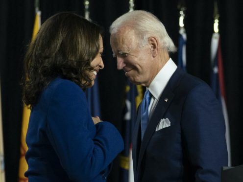 Joe Biden and his running mate Kamala Harris (Carolyn Kaster/AP)