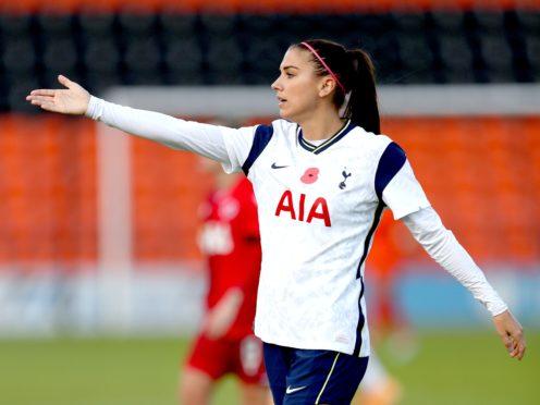 Alex Morgan made her Tottenham debut against Reading (Kieran Cleeves/PA)
