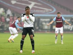 Ademola Lookman made a mess of his penalty at West Ham (Catherine Ivill/PA)