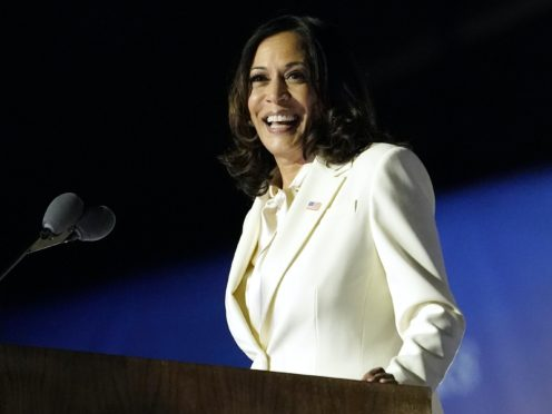 Vice President-elect Kamala Harris makes her victory speech (AP Photo/Andrew Harnik)