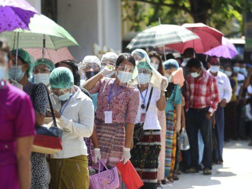 Voters go to the polls in Yangon, Burma (Thein Zaw/AP)