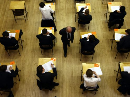 The Government should consider holding rigorous 'backup' assessments rather than mock exams in case next year's GCSE and A-level exams are cancelled amid the pandemic, a think tank has suggested (David Jones/PA)