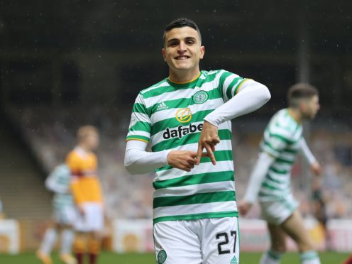 Celtic's Mohamed Elyounoussi scored a hat-trick against Motherwell (Steve Welsh/PA)