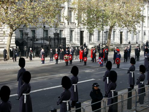 There were fewer veterans at the Cenotaph service (Peter Nicholls/PA)