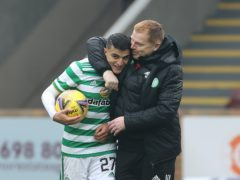 Celtic boss Neil Lennon was delighted with Mohamed Elyounoussi's hat-trick (Steve Welsh/PA)