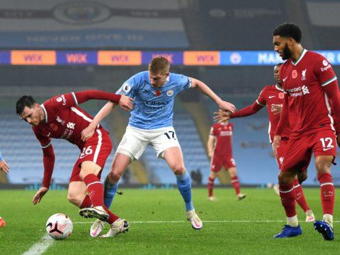 Manchester City and Liverpool share spoils at the Etihad Stadium (Shaun Botterill/PA)