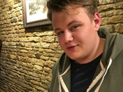 Harry Dunn was killed in a road crash outside RAF Croughton in Northamptonshire on August 27 last year (family handout/PA)