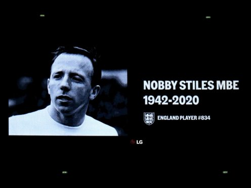 Former England midfielder Nobby Stiles, World Cup winner in 1966, had been diagnosed with dementia (Mike Egerton/PA)