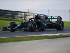 Lewis Hamilton struggled for pace in opening practice (Ozan Kose/AP)