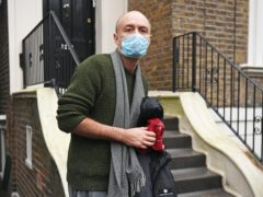 Dominic Cummings outside his north London home on Saturday afternoon (Kirsty O'Connor/PA)