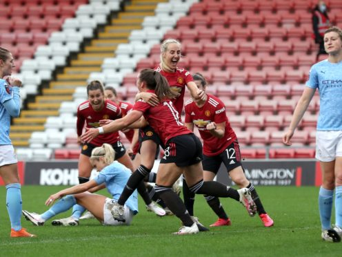 Kirsty Hanson sealed a point for United (Martin Rickett/PA)