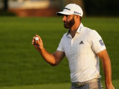 Dustin Johnson will take a four-shot lead into the final round of the Masters (AP Photo/Matt Slocum)